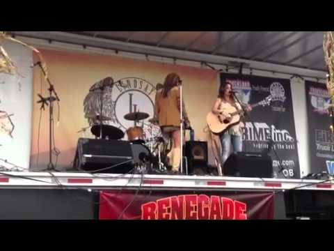 Erin Flanigan performs at Lawler/TCA truck stop tour