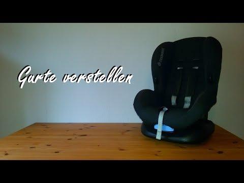 Gurte verstellen, Maxi Cosi Kindersitz Priori SPS