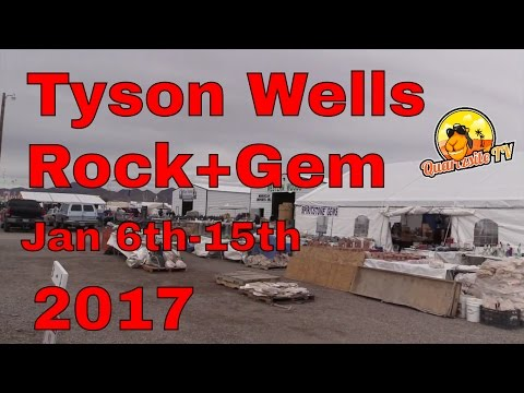 Tyson Wells Rock + Gem Show Jan 6th-15th…Tyson Wells Show-grounds…Quartzsite AZ
