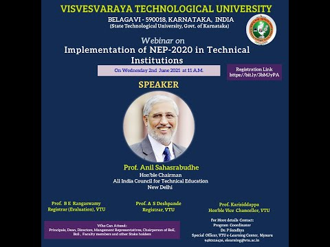 Implementation of NEP-2020 in Technical Institutions