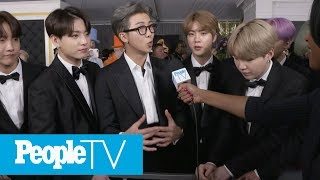 BTS Opens Up About Their First Grammys: 'It's A Dream Come True' | Grammys 2019 | PeopleTV
