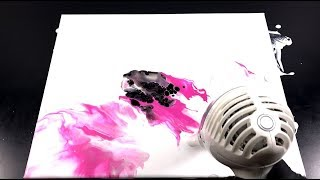 Dutch pour Week - three colors without silicone oil -  Fluid painting with hair dryer - 3 of 5