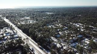 Snow Day on Hilton Head Island - Drone footage 2018! Part-2