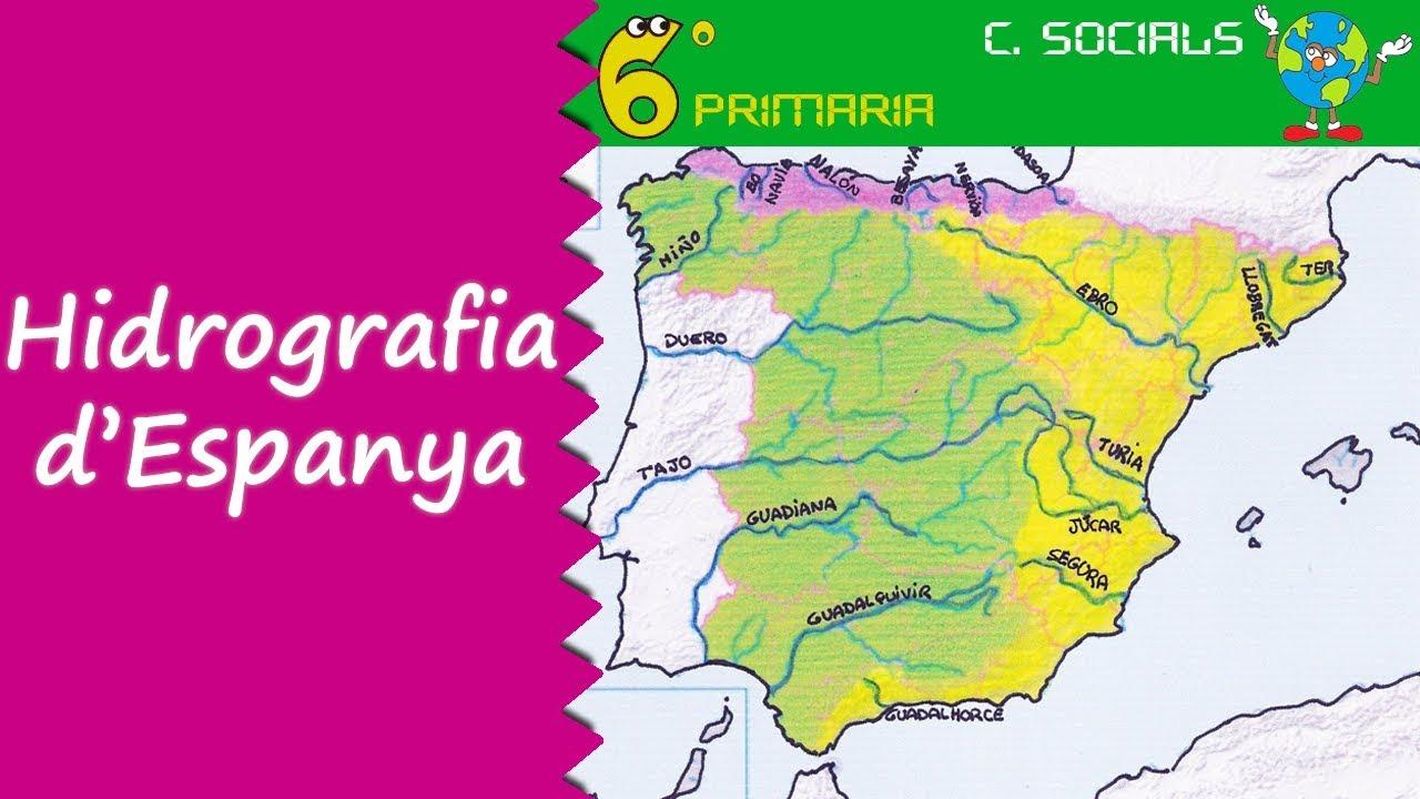 Hidrografia d'Espanya. Socials, 6é Primària