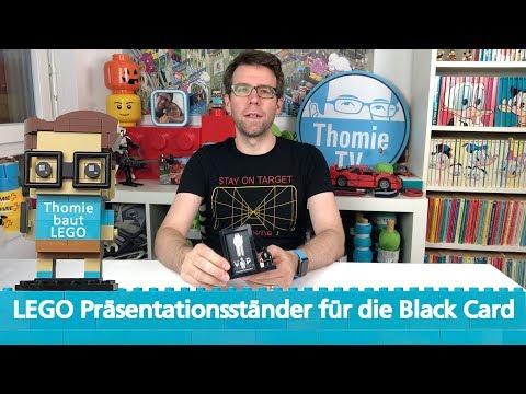 LEGO Präsentationsständer für die Black Card | Thomie baut LEGO