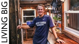 College Student Builds Outstanding DIY $15,000 Tiny House For Debt Free Living - Video Youtube