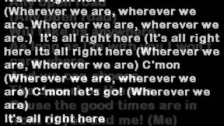 MILEY CYRUS  IT'S ALL RIGHT HERE ( LYRICS on screen) hannah montana 3