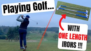 Playing Golf With ONE LENGTH IRONS!
