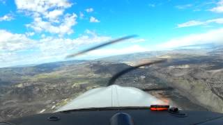 Diving approach and landing  to Vail CO.