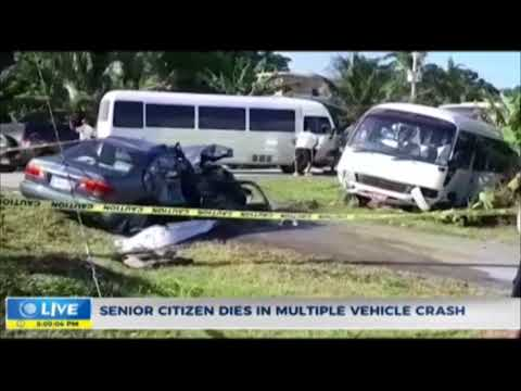 Senior Citizen dies in multiple vehicle crash