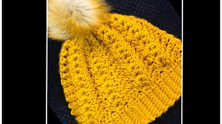 Easy Crochet Hat For Women With Fur Pom Pom How To Crochet Hat For Beginners ALL SIZES #215