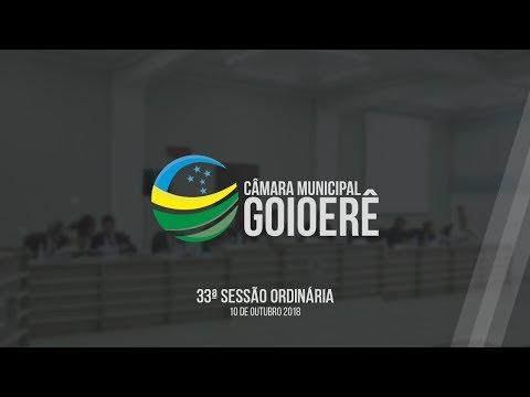 33ª Sessão Ordinária 2018