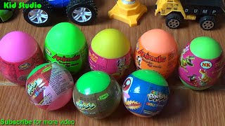 Surprise egg, egg and learn colors - Surprise eggs for Pokemon whistle fish and learn colors