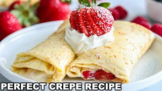 How To Make PERFECT Crepes (Easy Crepe Recipe)