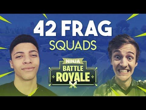 Ninja & Myth 42 Frag Squad Gameplay - Fortnite Battle Royale Gameplay