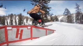 Snowboarding Heavenly Ski Resort Tahoe California - (Season 3, Day 90)
