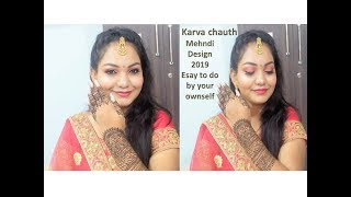 Karva chauth mehndi design 2019 || Easy to make by your own self || Glow Gossip