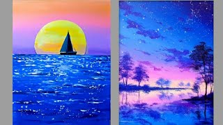 6 Canvas Paintings For Beginners - Easy Painting Ideas