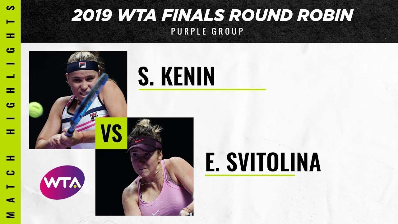 Обзор матча Элина Свитолина - София Кенин на WTA Finals (ВИДЕО)