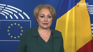 Dăncilă, după întâlnirea cu Tajani: Am vorbit despre preşedinţia română a Consiliului UE