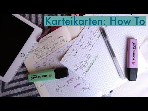 Karteikarten als Lernmethode // Wie schreiben? Wie oft wiederholen?