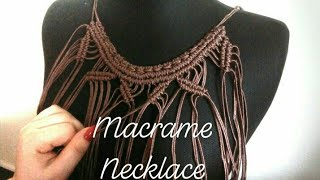 Diy Macrame Necklace For Beginners #macrame #accesories #necklace #diy