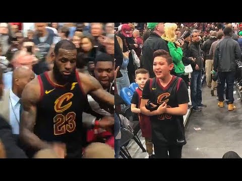 LeBron James Makes Kid Cry After Giving Him His Arm Sleeve!