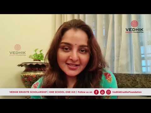 Manju Warrier talks on Vedhik Erudite Foundation's 'One School,One IAS ' Launch