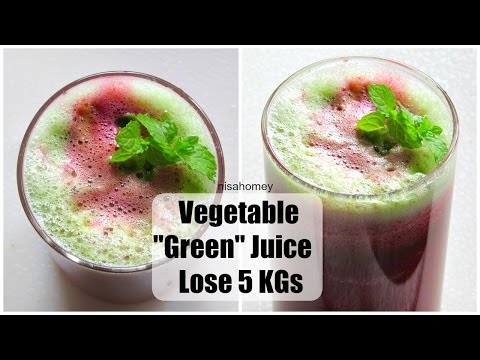 Video Green Juice For Weight Loss & Detox - Lose 5 Kgs With Vegetable Juice - Morning Routine