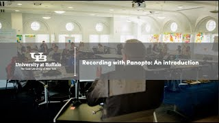 Video showing users how recording with Panopto gives UB faculty and staff tools for video and screen recording, editing and sharing, all in one place and from any device.