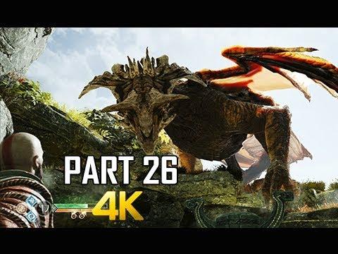GOD OF WAR Gameplay Walkthrough Part 26 - FAFNIR DRAGON #2 (PS4 PRO 4K Commentary 2018)