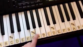 How to Label a 61 Key Keyboard Piano!