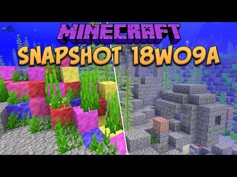 Minecraft Walkthrough - 1 13 Snapshot 18w10a Tropical Fish! Map