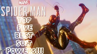 Top 5 BEST Suit Powers in Spider-Man PS4!!!