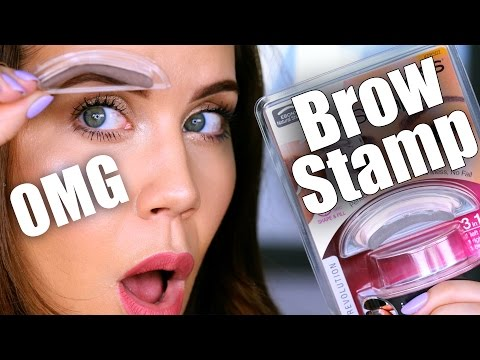 OMG … Does THIS EYEBROW STAMP Really Work???