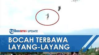 Video Viral Detik-detik Bocah di Pringsewu Terbang Terbawa Layang-layang, Jatuh hingga Patah Tulang