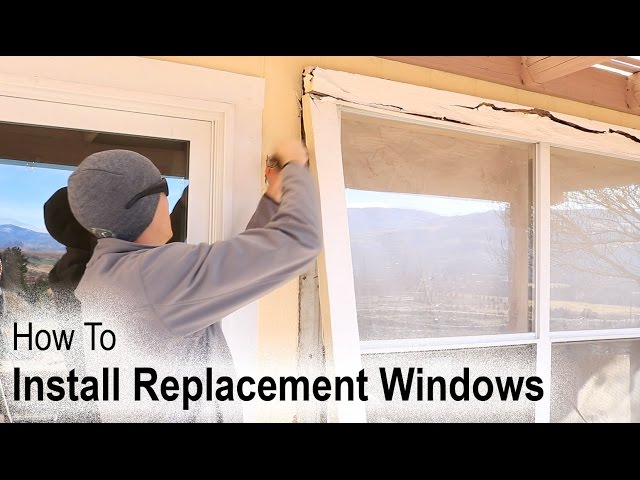 How To Replace An Aluminum Window When You Have Wood Siding