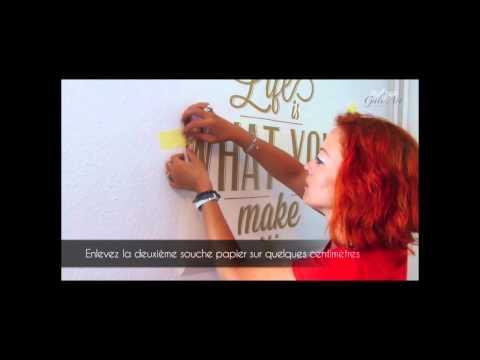 Comment poser un sticker sur un mur   Pose de stickers muraux - Gali-art.com
