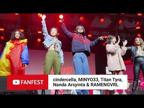 Download cindercella, MINYO33, Titan Tyra, Nanda Arsyinta & RAMENGVRL @ YouTube FanFest Jakarta 2018 HD Mp4 3GP Video and MP3