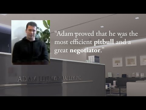"""Adam proved that he was the most efficient pitbull and a great negotiator."" testimonial video thumbnail"