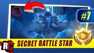Fortnite | WEEK 7 Secret Battle Star Location (Season 7 Week 7 Loading Screen / Snowfall Skin)