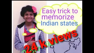 How to memorize 29 states of India easily