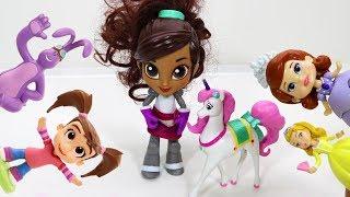 Нелла отважная принцесса и игрушки Катя и Мим Мим. Видео для детей про игрушки. ИДК