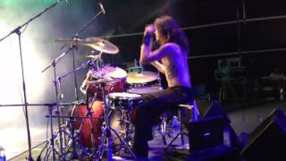 Suidakra- Pendragon's Fall Live (Drumcam) - Bangalore Open Air 2012, India