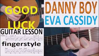 DANNY BOY - EVA CASSIDY fingerstyle GUITAR LESSON