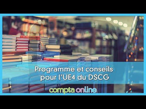 Le programme de DSCG UE4