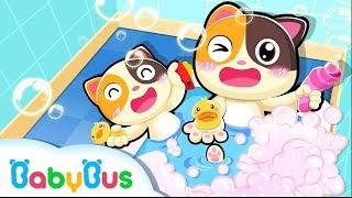 Baby Kitten's Bath Time   Bath Song   Nursery Rhymes   Toddler Songs   Kids Cartoon   BabyBus