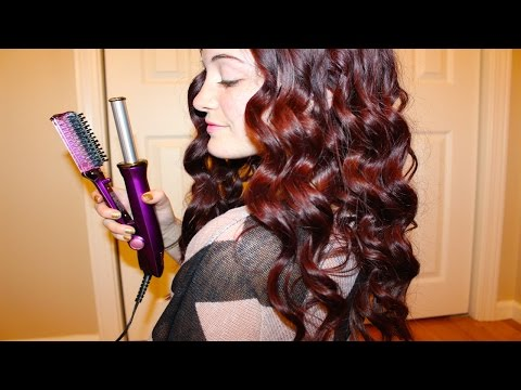 Ionic Ceramic Hot Brush Styler Purple by instyler #8