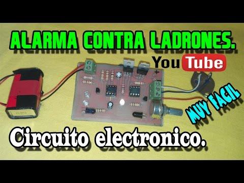 Alarma contra ladrones | Circuito Electrónico.