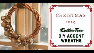 New DIY Simple Glam Holiday Accent Wreaths - Dollar Store Glam How-to